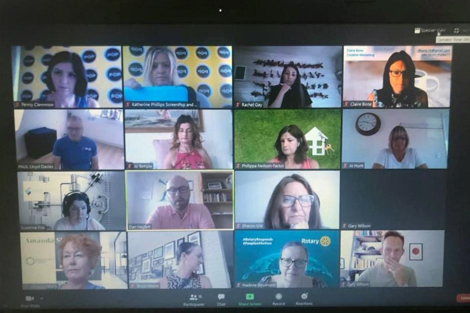 screen shot of zoom networking meeting