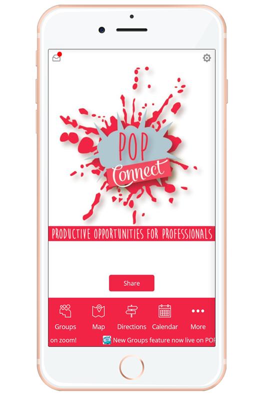 screen shot of POP Networking App