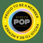screen pop members badge